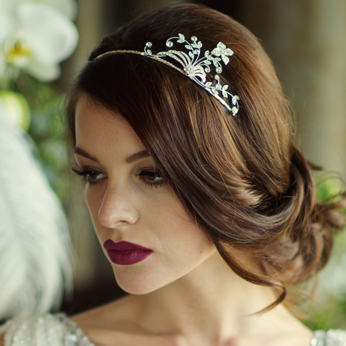 Olivia Crystal Wedding  Headband